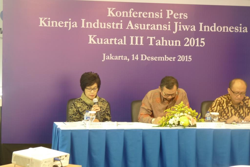 Press Conference Kinerja Industri Asuransi Jiwa Kuartal 3 201512/14/2015 12:00:00 AM